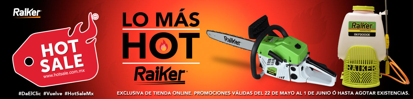 Ofertas Hot sale en equipos Raiker - Raiker Agroindustrias