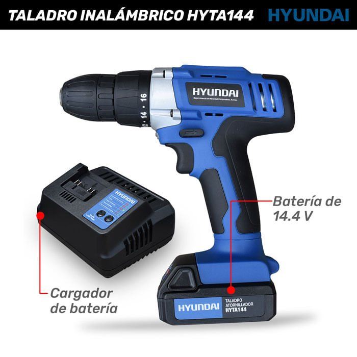 Taladro Inalámbrico HYTA144 Hyundai