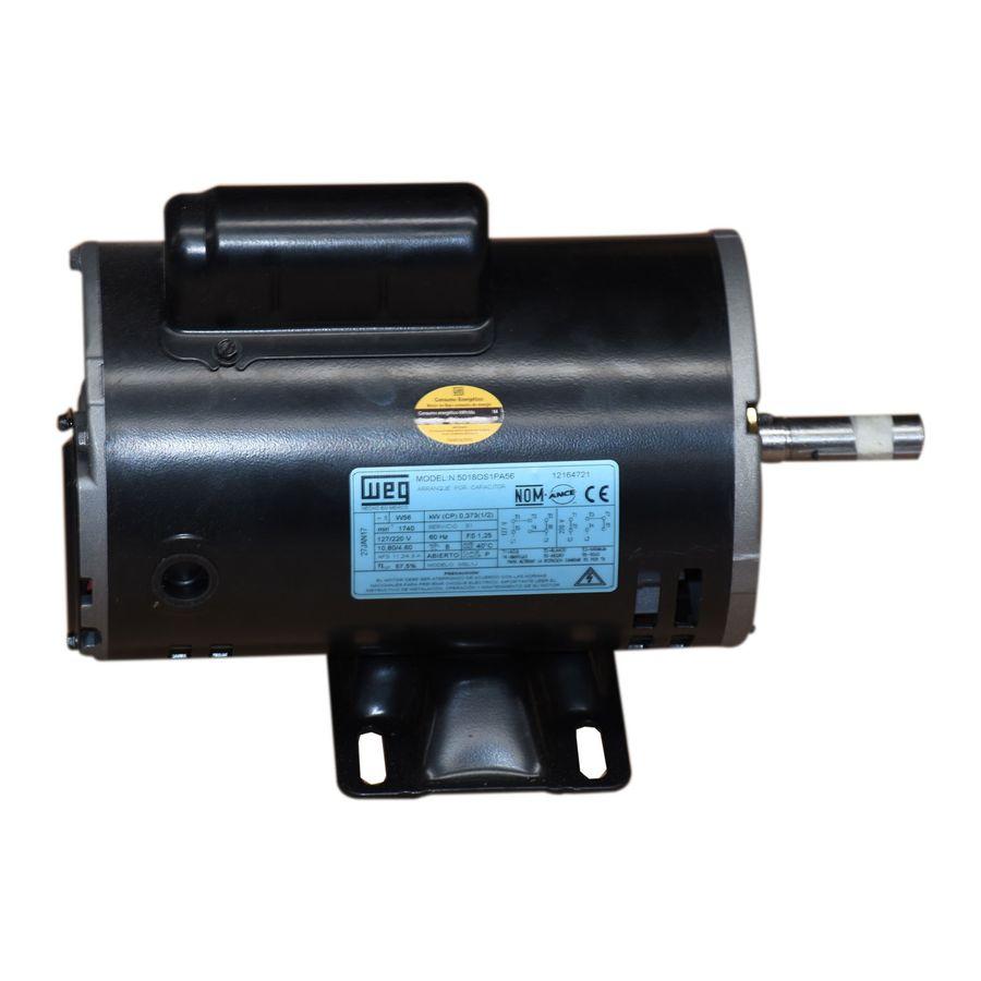 Motor Weg Monofasico 1/2 Hp 4 Polos N5018Os1Pa56 Rmw1-2 ...